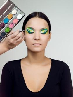 мастер-класс раскрась осень макияж фото